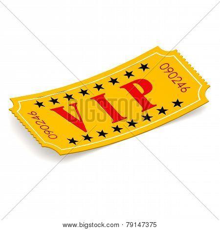 Vip Ticket On White Background