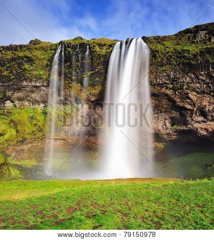 Seljalandsfoss, Waterfall In Iceland