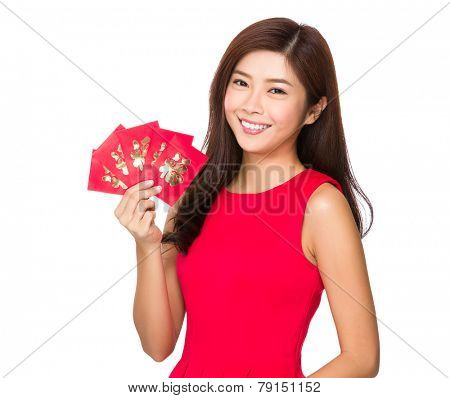 Woman and chinese pocket money