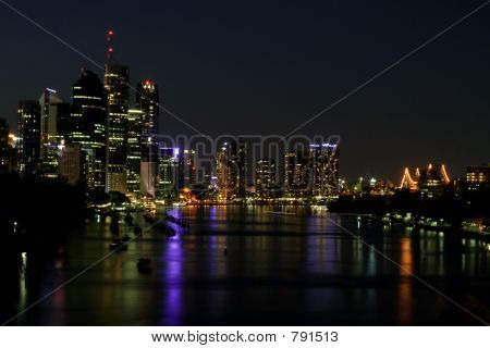 poster of Brisbane City by Night