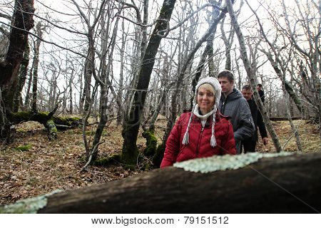Evgenia Chirikova With Group Of Ecologists