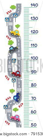Road meter wall