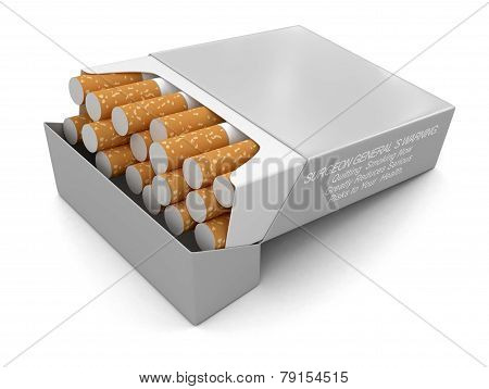 Cigarette Pack  (clipping path included)