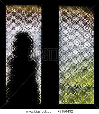 Silhouette Of Lonely Woman
