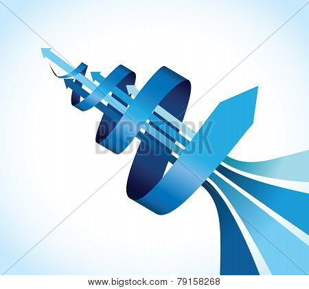 blue spiral background