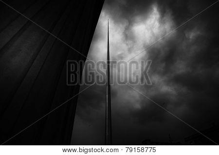 Storm Over The Dublin Spire
