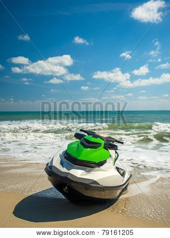 Jetski on the beach in Chaweng Koh Samui