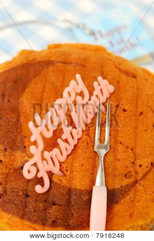 Fork On Cake For Celebrations