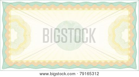 Vector Illustration of Guilloche Check Background