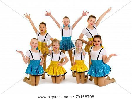 Junior Girls Jazz Dance Group