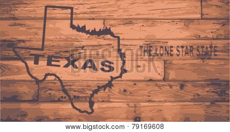Texas Map Brand
