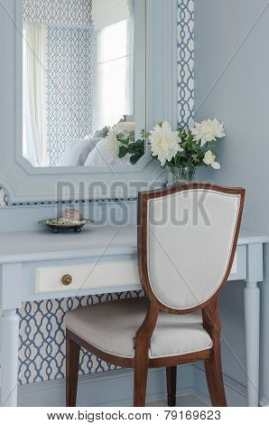 Vintage Style Dressing Table And Chair