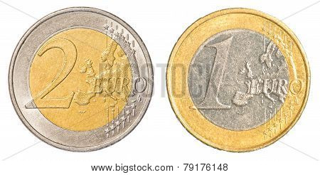 One And Two Euro Coin