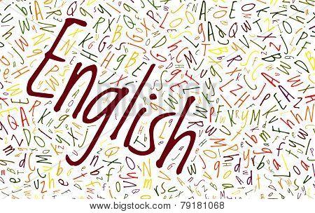English Alphabet Word Cloud