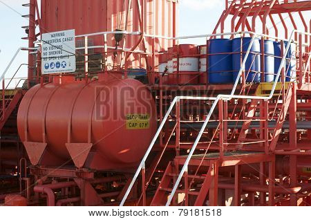 pipe and tank