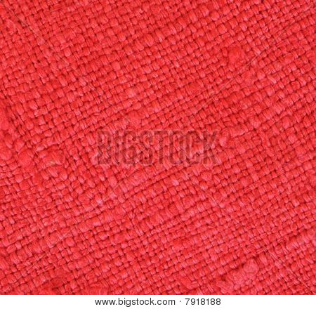 Close Up Of Red Textured Fabric