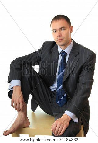 Sorrowful businessman.