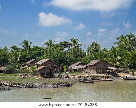 Rural Village In Myanmar