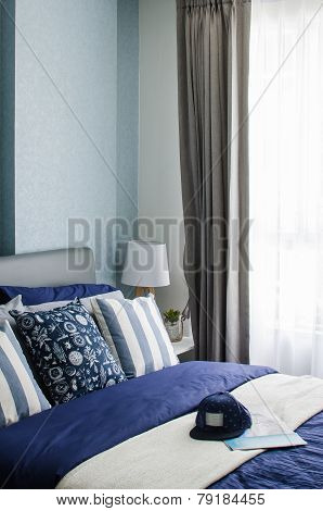 Mordern Blue Bedroom Design