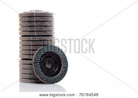 Flap Grind Abrasive Discs Isolated
