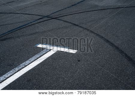Asphalt Surface Of The Empty Parking