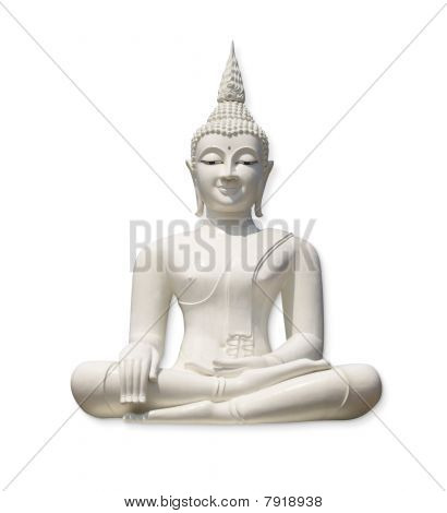 White Buddha (isolated )