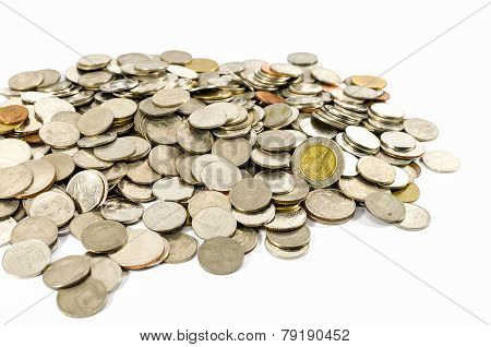 Coins, Isolated
