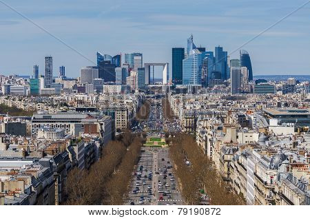 La Defense Business Area, La Grande Armee Avenue.