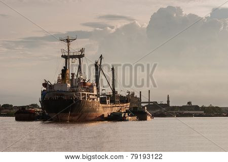 Ship In Choa Praya River, Bangkok Thailand