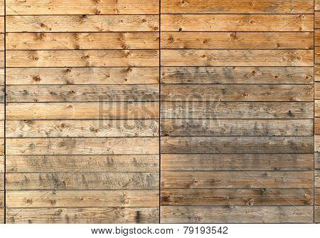 Dirty wooden facade