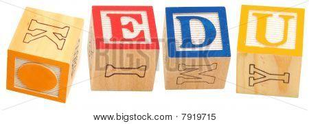 Alfabeto blocos. edu