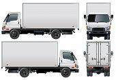 image of delivery-truck  - Vector illustration delivery - JPG
