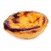 stock photo of pasteis  - a pastel de nata - JPG