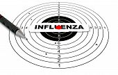 pic of influenza  - Shooting target with word influenza made in 3d software - JPG