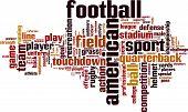 American Football Word Cloud poster