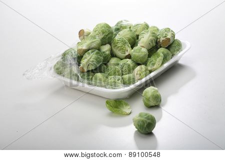 Brussels on white background  - close-up
