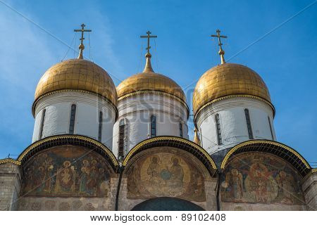 The Cathedral Of The Dormition In Moscow Kremlin, Russia