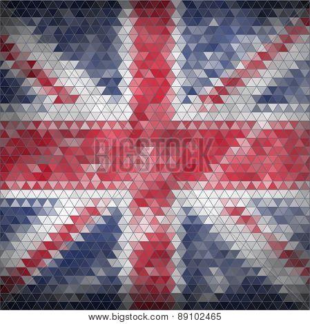 Mosaic British flag background
