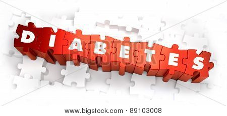 Diabetes - White Word on Red Puzzles.