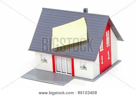 Model House With Note