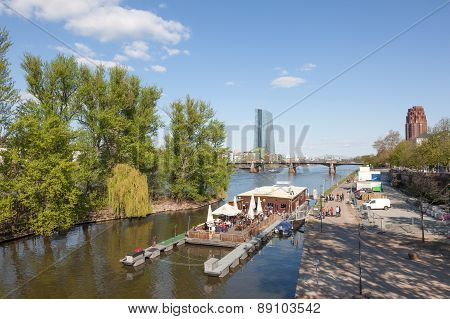 Float Cafe In Frankfurt Main, Germany