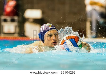Brescia - April   7: G. Bini  ( Blue Cap, Bpm Sport Management) In Game Bpm Sp. Management Vs An Bre