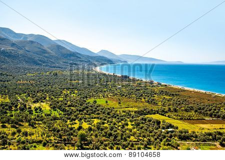 Borsh beach in Albania
