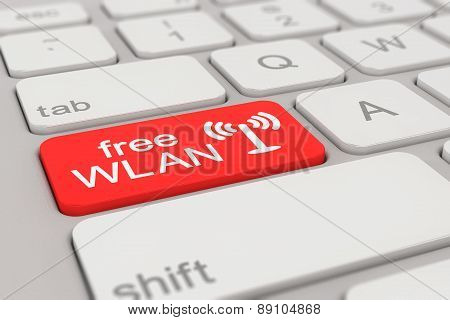 Keyboard - Free Wlan - Red