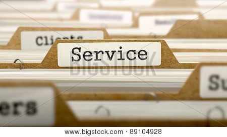 Service - Word on Folder Register.