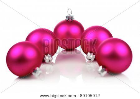 Christmass bauble on white background