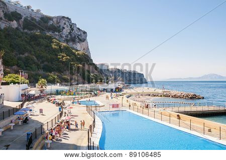 Open Air Swimming Pool In Gibraltar