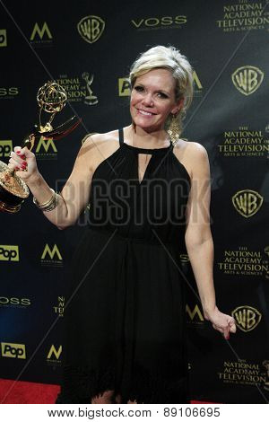 BURBANK - APR 26: Maura West at the 42nd Daytime Emmy Awards Gala at Warner Bros. Studio on April 26, 2015 in Burbank, California