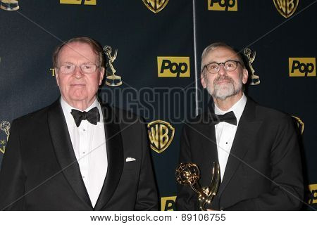 LOS ANGELES - APR 26:  Charles Osgood, Rand Morrison at the 2015 Daytime Emmy Awards at the Warner Brothers Studio Lot on April 26, 2015 in Los Angeles, CA