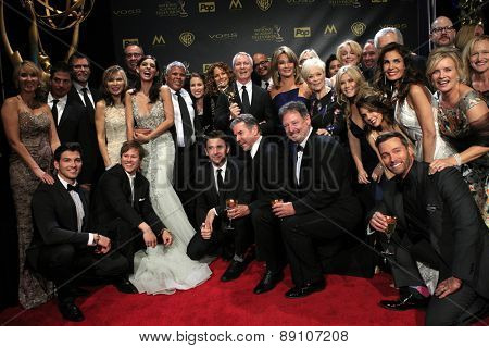 BURBANK - APR 26: Days of Our Lives at the 42nd Daytime Emmy Awards Gala at Warner Bros. Studio on April 26, 2015 in Burbank, California